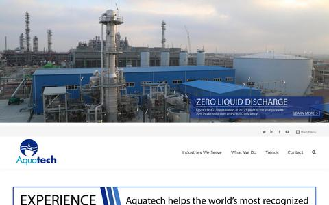 Screenshot of Home Page aquatech.com - Aquatech – From Innovation Flows Leadership - captured Jan. 12, 2018