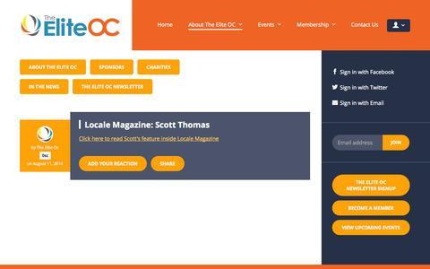Screenshot of Press Page theeliteoc.com - In The News - The Elite OC - captured Oct. 29, 2014