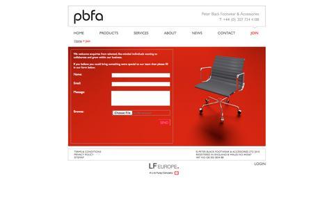 Screenshot of Signup Page pbfa.co.uk - Pbfa - captured Oct. 2, 2014