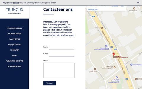 Screenshot of Contact Page truncus.eu - Contact - Truncus Vermogensadviseurs - captured Nov. 14, 2017