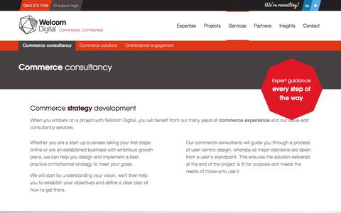 Screenshot of Services Page welcomdigital.com - Commerce Consultancy & Strategy Planning from Welcom Digital - captured July 19, 2016