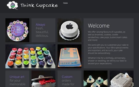Screenshot of Home Page thinkcupcake.com - Home - captured Oct. 7, 2014