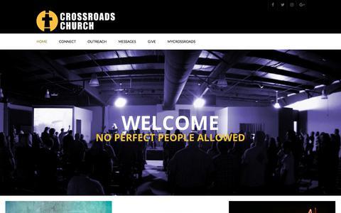 Screenshot of Home Page crossroadsjc.com - Crossroads Church | No Perfect People Allowed - captured Aug. 30, 2017