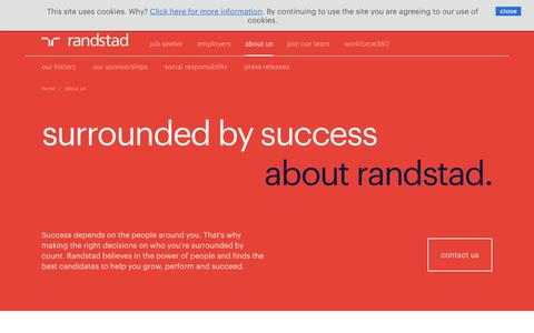 Screenshot of About Page randstad.co.uk - about Randstad | Randstad.co.uk - captured Sept. 10, 2017