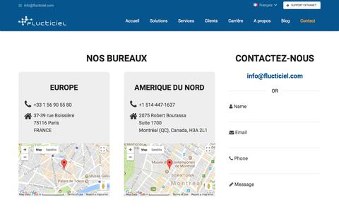 Screenshot of Contact Page flucticiel.com - Contact - captured Nov. 24, 2017