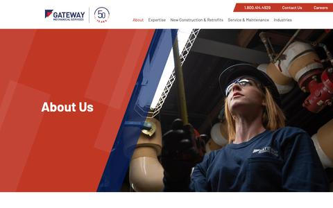 Screenshot of About Page gatewaymechanical.ca - About Us • Gateway Mechanical Services - captured Nov. 10, 2018