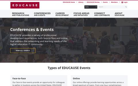 Events | EDUCAUSE