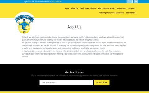 Screenshot of About Page gpamazingproducts.com.au - About Us                      – Gpamazing Products - captured Dec. 7, 2018