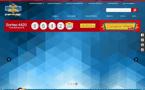 Screenshot of Home Page loteriademedellin.com.co - loteriademedellin.com.co | Un producto Benedan - captured April 18, 2018