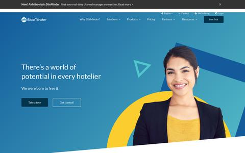 Screenshot of Home Page siteminder.com - SiteMinder - the complete guest acquisition platform for hotels - captured June 12, 2018