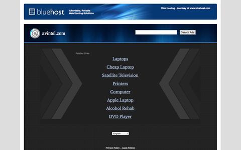 Screenshot of Login Page avintel.com - Welcome avintel.com - BlueHost.com - captured Sept. 30, 2014
