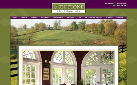 Screenshot of Jobs Page goodstone.com - Goodstone Inn | Middleburg VA Inn | Virginia Romantic Inn | Goodstone Inn & Restaurant - captured Oct. 3, 2014