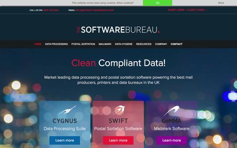 Screenshot of Home Page thesoftwarebureau.com - Data Quality Software | Data Processing, Management & Cleaning Software | The Software Bureau - captured Dec. 22, 2016