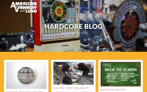 Screenshot of Blog pawndetroit.com - Hardcore Blog – American Jewelry and Loan | As Seen on Hardcore Pawn | Pawn Detroit - captured Oct. 18, 2018