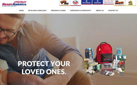Screenshot of Home Page readyamerica.com - Home - Ready America - captured Aug. 12, 2015