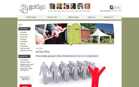 Screenshot of Blog gotugo.com - Gotügo News Blog - captured Sept. 30, 2014