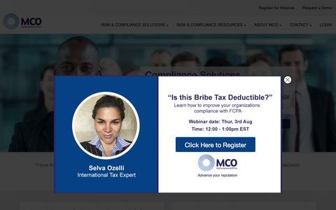 MyComplianceOffice: Compliance management software solutions