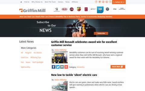 Screenshot of Press Page griffinmill.co.uk - News | South Wales | Griffin Mill - captured Sept. 30, 2018