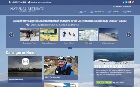Screenshot of Press Page cairngormmountain.org - News - CairnGorm Mountain - captured Jan. 14, 2016
