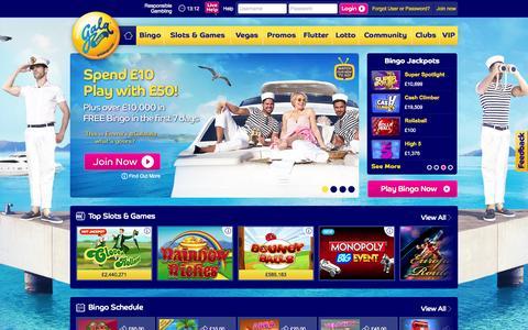 Screenshot of Home Page galabingo.com - Gala Bingo | Play Online Bingo | Spend £10 play with £50 - captured July 18, 2015