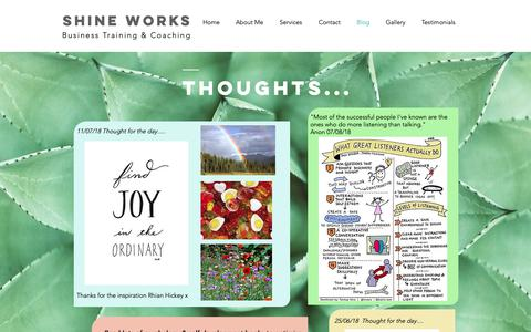 Screenshot of Blog shineworks.co.uk - shineworks2018 | Blog - captured Oct. 20, 2018