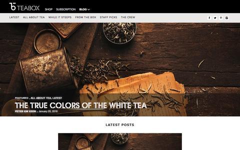 Screenshot of Blog teabox.com - Tea Stories   Best Tea Blog   Still Steeping - The Teabox Blog - captured Jan. 21, 2016