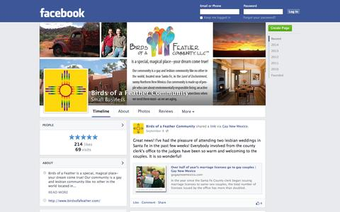 Screenshot of Facebook Page facebook.com - Birds of a Feather Community - Pecos, NM - Small Business | Facebook - captured Oct. 23, 2014