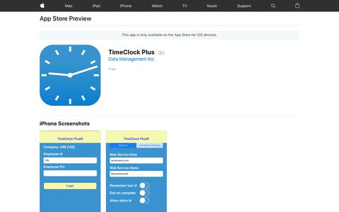 TimeClock Plus on the AppStore