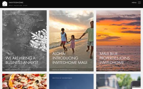 Screenshot of Blog invitedhome.com - InvitedHome | Best. Vacation. Ever - captured Nov. 5, 2014