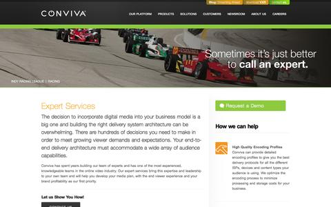 Screenshot of Services Page conviva.com - Conviva | Services - captured Sept. 13, 2014
