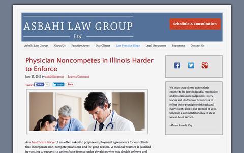 Screenshot of Blog asbahilaw.com - Blog | Asbahi Law Group - captured Feb. 6, 2016