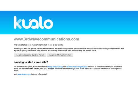 Screenshot of Home Page 3rdwavecommunications.com - Kualo Web Hosting - 3rdwavecommunications.com - captured Oct. 18, 2018