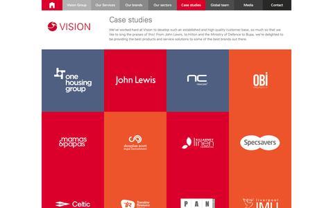 Screenshot of Case Studies Page visionsupportservices.com - Case studies » Vision Support Services - captured Oct. 26, 2014