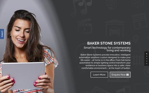 Screenshot of Home Page bakerstone.com - Home, Office & Building Automation | Baker Stone Systems - captured March 30, 2016