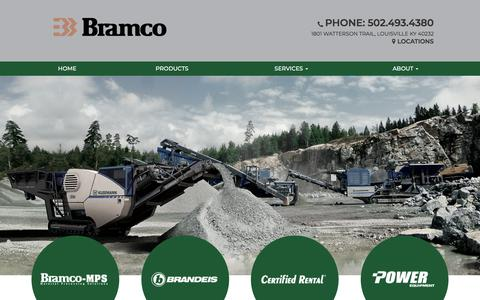 Screenshot of Home Page bramco.com - Bramco | Equipment sales in Louisville, KY - captured Aug. 3, 2018