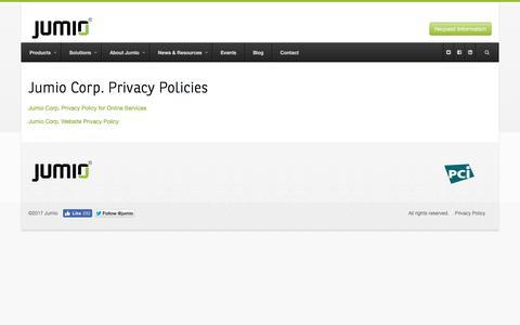Privacy Policy - Jumio