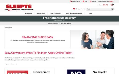 Affordable Finance Options - Sleepy's