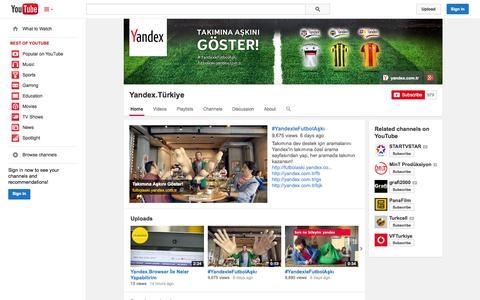 Screenshot of YouTube Page youtube.com - Yandex.Türkiye  - YouTube - captured Oct. 24, 2014