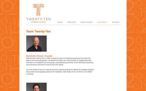 Screenshot of Team Page twentyteninc.com - Leadership | Twenty-Ten Inc. - captured Sept. 30, 2014