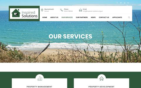 Screenshot of Services Page inspired-solutions.org.uk - Services| Property Management Bournemouth |  | inspired-solutions.org.uk - captured Sept. 19, 2018