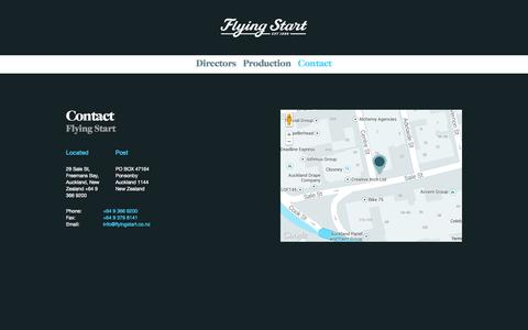 Screenshot of Contact Page flyingstart.co.nz - Contact | Flying Start - captured Sept. 30, 2014