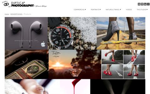 Screenshot of Products Page diptica.com - DIPTICA Photography by Emmanuel Avargués | Products - captured Nov. 2, 2018