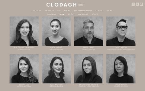 Screenshot of Team Page clodagh.com - Team - Clodagh Design - captured Feb. 18, 2018