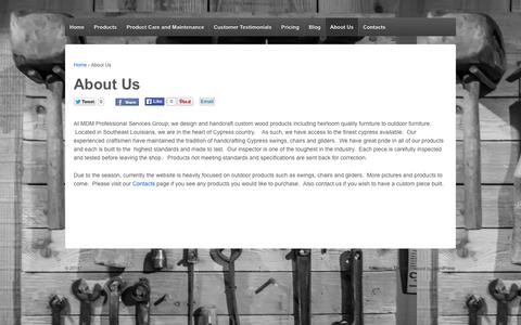 Screenshot of About Page mdm-psg.com - About Us   - captured Oct. 3, 2014