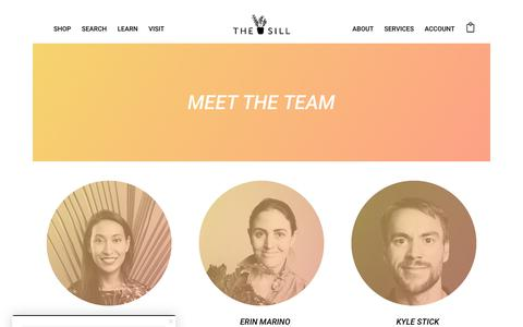 Screenshot of Team Page thesill.com - Team | The Sill - captured Oct. 8, 2017