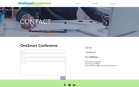 Screenshot of Contact Page onesmartconference.com - osconferencing | Contact - captured Oct. 26, 2017
