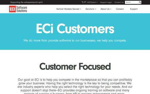 ECi Software Solutions - Customers - Meet ECi Customers