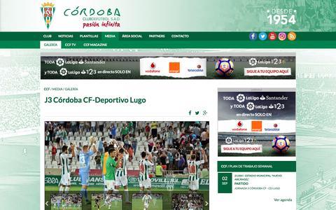 Screenshot of Press Page cordobacf.com - Galería de fotos: J3 Córdoba CF-Deportivo Lugo | Córdoba - captured Sept. 3, 2016