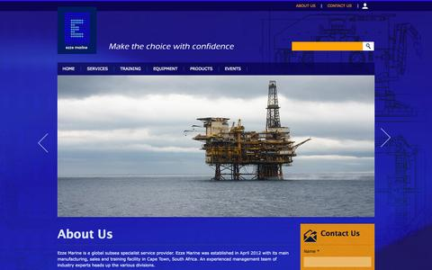 Screenshot of About Page ezzemarine.com - About Us | Ezze Marine - captured Oct. 3, 2014