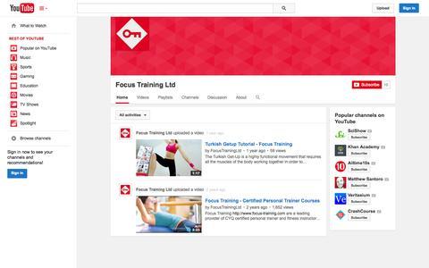 Screenshot of YouTube Page youtube.com - Focus Training Ltd  - YouTube - captured Oct. 23, 2014